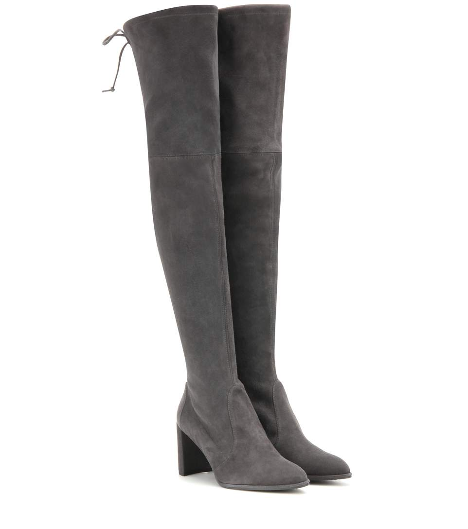 Tieland suede over-the-knee boots