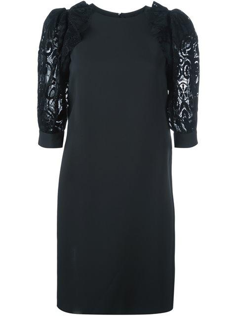 EMANUEL UNGARO lace bodice evening dress