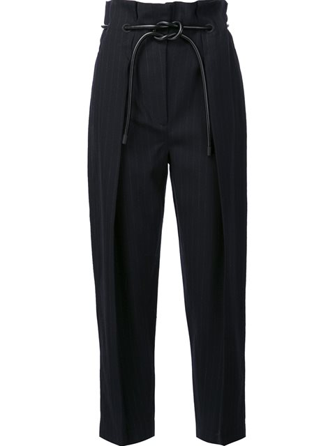 WRAPPED WAIST PLEATED TROUSERS