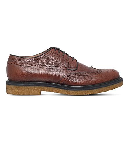Dries Van Noten Crepe Leather Derby Shoes