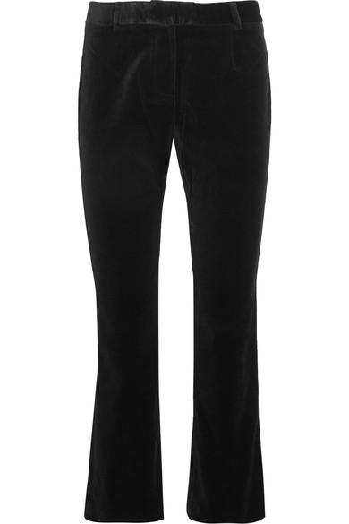 Velvet cropped velvet flared pants