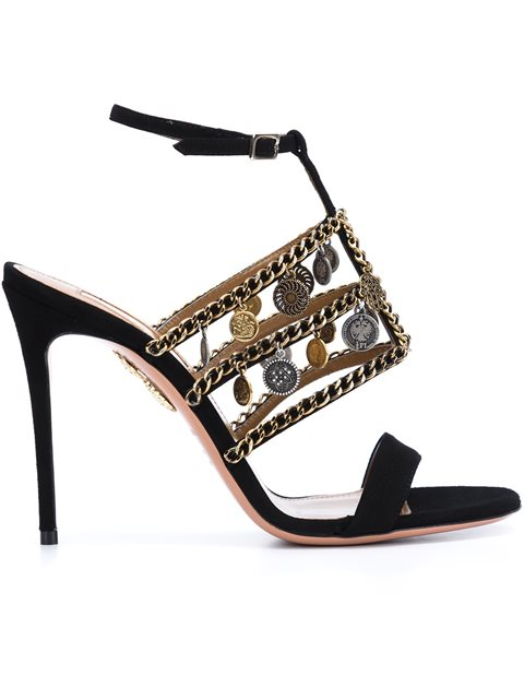 embellished T-strap sandals
