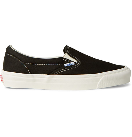 black and white UA Classic Slip-On DX cotton sneakers