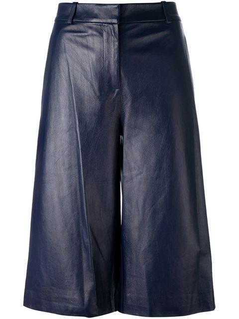 high-rise flared shorts