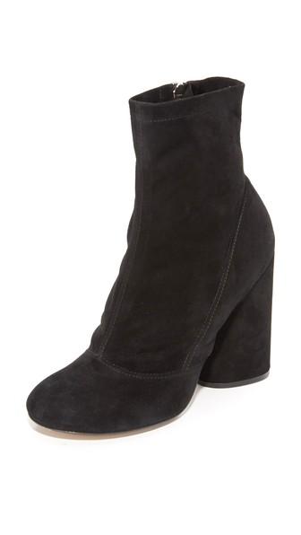Grace Suede Block-Heel Booties