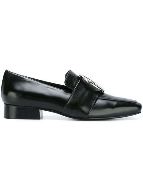 'Harput' round buckle leather loafers
