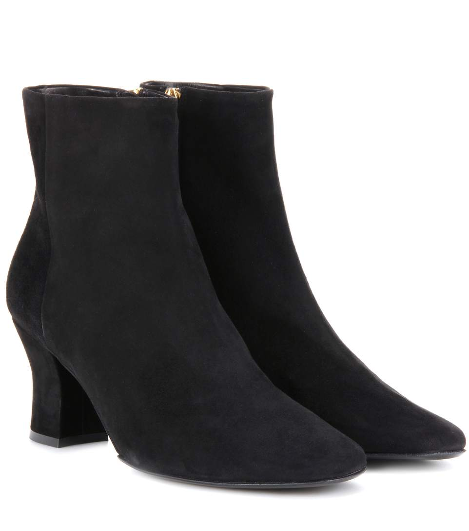 The Row Suedes BOWEN SUEDE ANKLE BOOTS