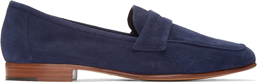 'Classic' suede penny loafers