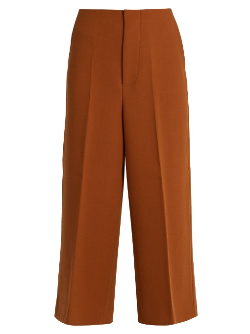 Marni  Double-faced wool-crepe culottes