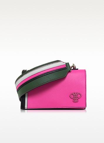 Emilio Pucci Leathers FUCHSIA LEATHER SHOULDER BAG