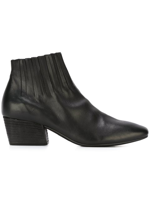'Nero' fringed ankle boots