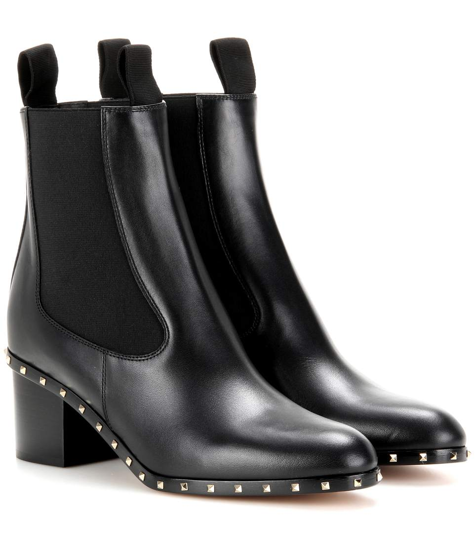 SOUL STUD LEATHER CHELSEA BOOT, BLACK (NERO)