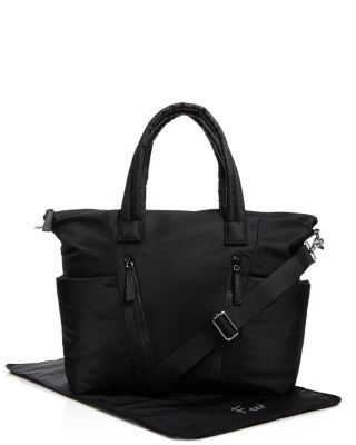 ELLIE NYLON DIAPER BAG - BLACK