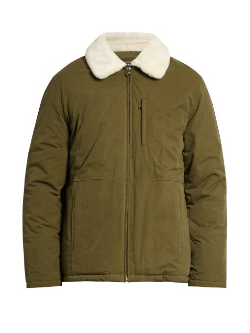 A.P.C. Ottawa water-resistant faux-fur collar jacket