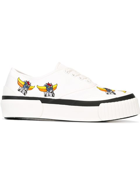 embroidered canvas sneakers