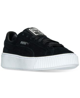Puma Suedes WOMEN'S SUEDE PLATFORM CASUAL SNEAKERS FROM FINISH LINE