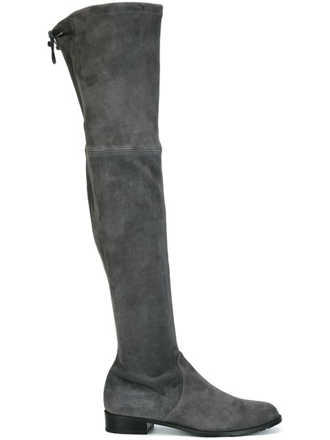 LOWLAND SUEDE OVER-THE-KNEE BOOT, SLATE