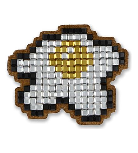 Egg crystal-embellished suede sticker