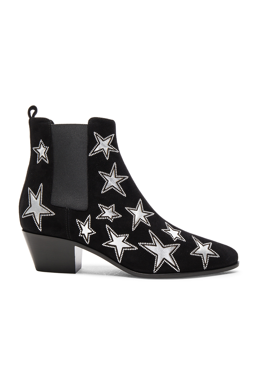 Saint Laurent Leathers Rock Suede & Metallic Leather Boots