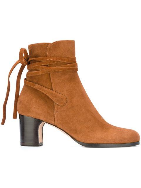 tied detailing ankle boots