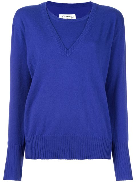 CASHMERE LAYERED PULLOVER SWEATER