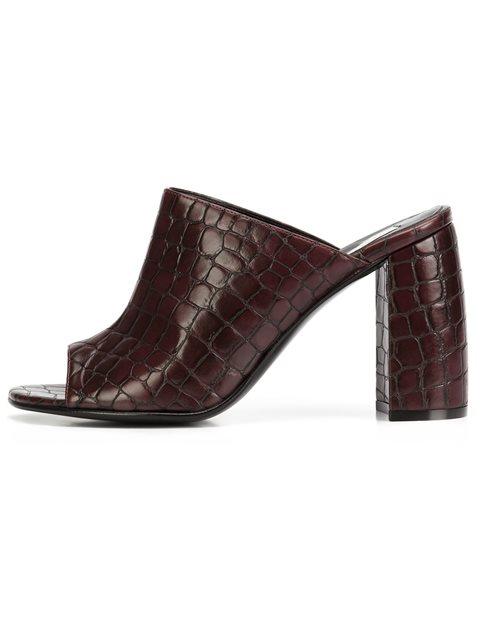 Stella Mccartney Leathers crocodile effect mules
