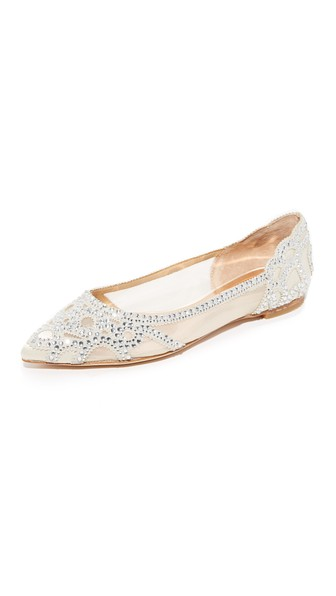 GIGI POINTED-TOE EVENING FLATS WOMEN'S SHOES