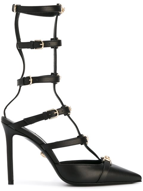 'Medusa Head' strap pumps