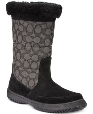 Coach Suedes COACH Sherman Signature Cold Weather Boots