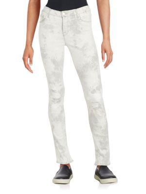 J Brand Cottons Tie-Dye Distressed Rail Skinny Jeans