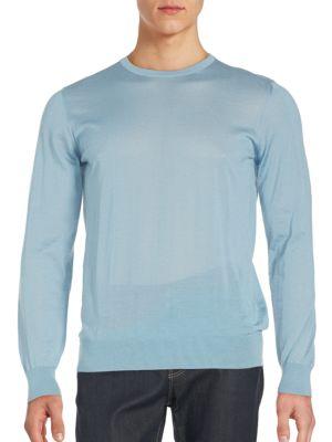 GIORGIO ARMANI Cottons Slim Fit Crewneck Sweater