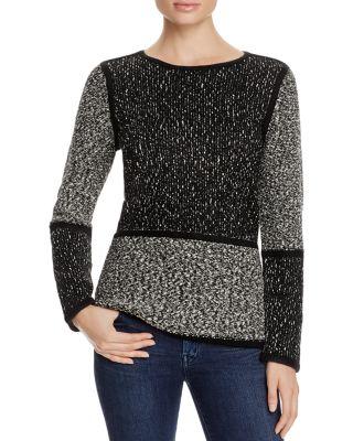 Calvin Klein  Color Block Marled Sweater