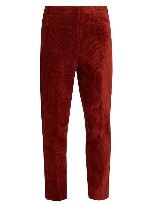 GOLDEN GOOSE Kenzie Cropped Corduroy Trousers