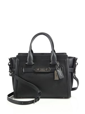 Coach Leathers Swagger 27 Glovetanned Leather Satchel