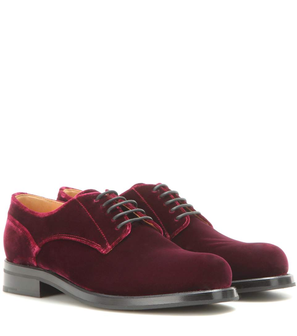 Exclusive to mytheresa.com – Louise velvet brogues