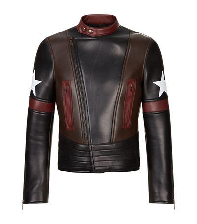 Panel Leather Jacket