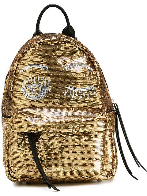 Sequin Embellished Wink Backpack