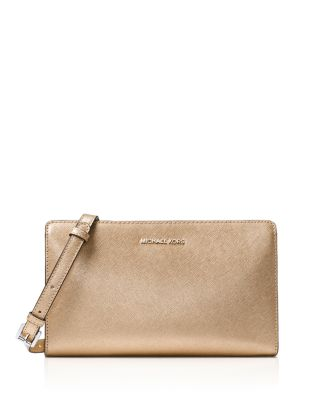 LARGE JET SET CONVERTIBLE CLUTCH - METALLIC