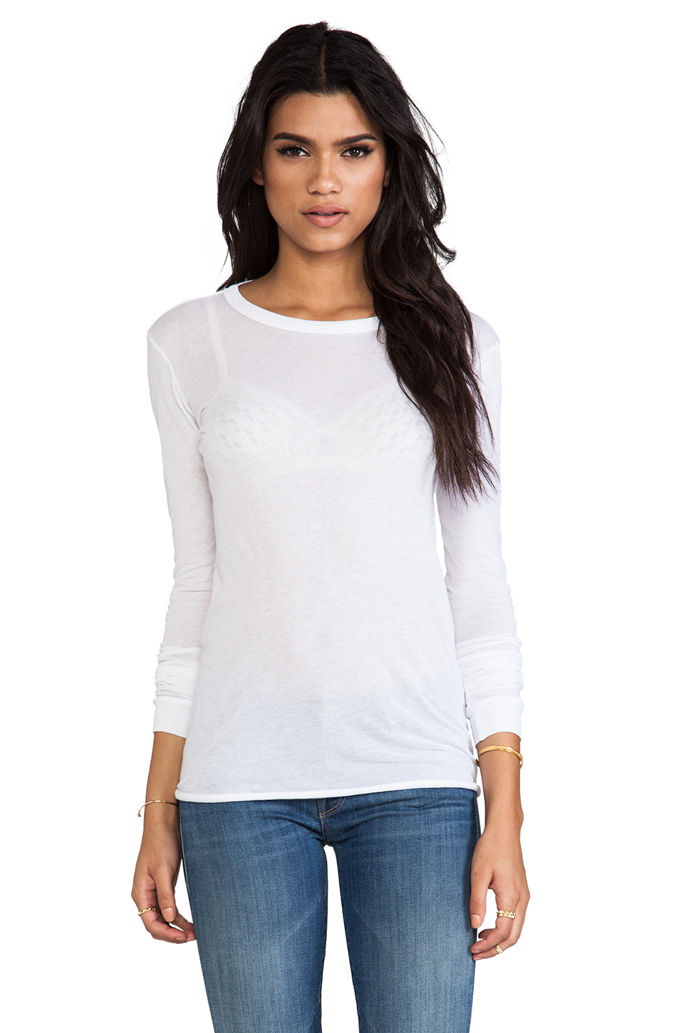 Enza Costa Cottons BOLD LONG SLEEVE CREW