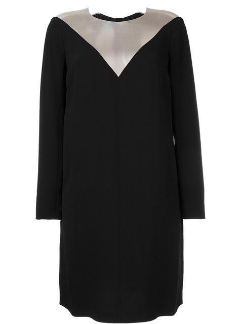 SHEER PANEL LONGSLEEVED DRESS