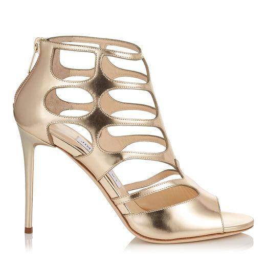 REN 100 Dore Mirror Leather Sandals