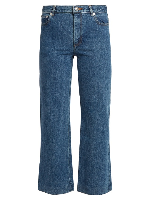 A.p.c. Denims Sailor high-rise cropped jeans