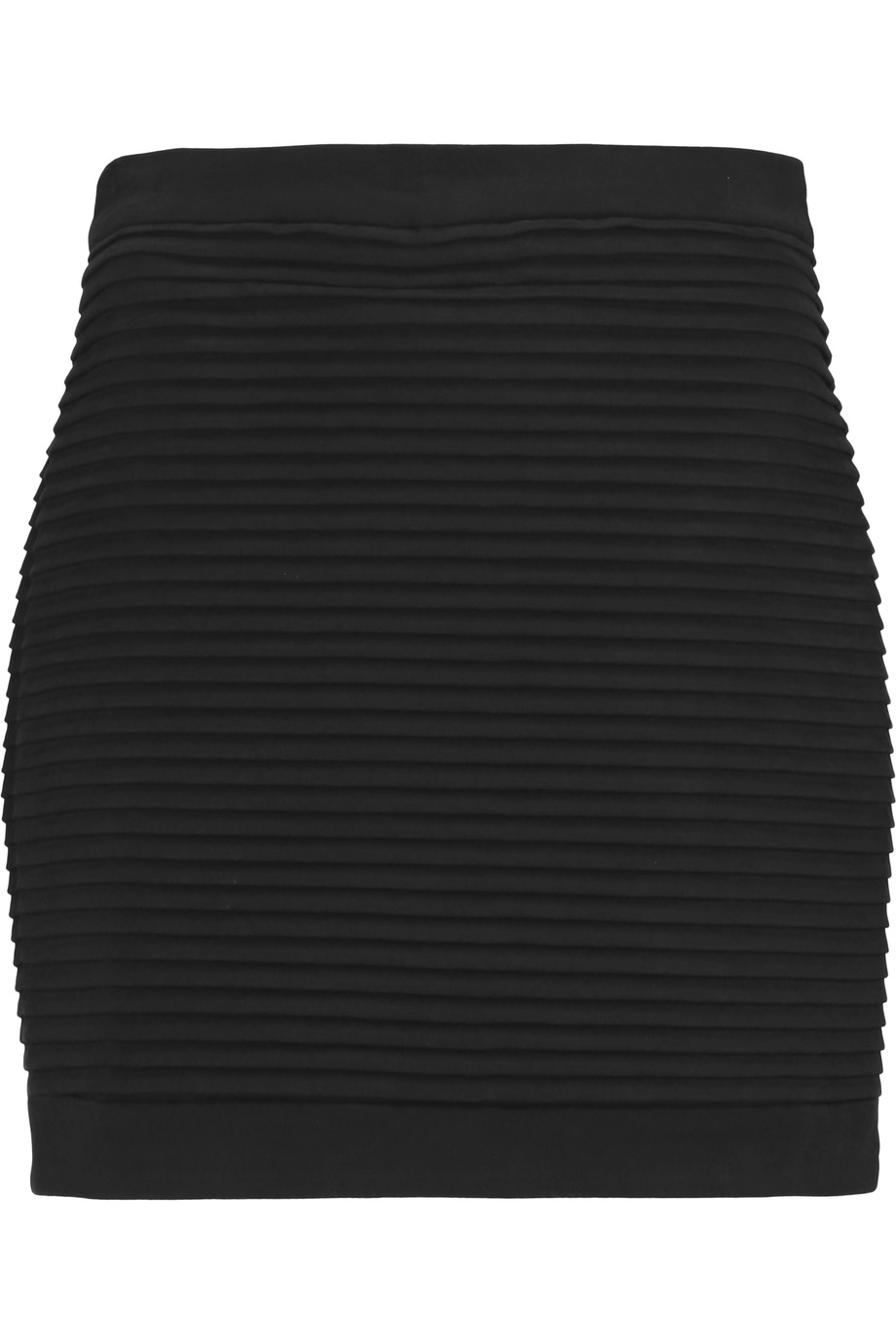 Balmain Cottons Pleated cotton-blend mini skirt
