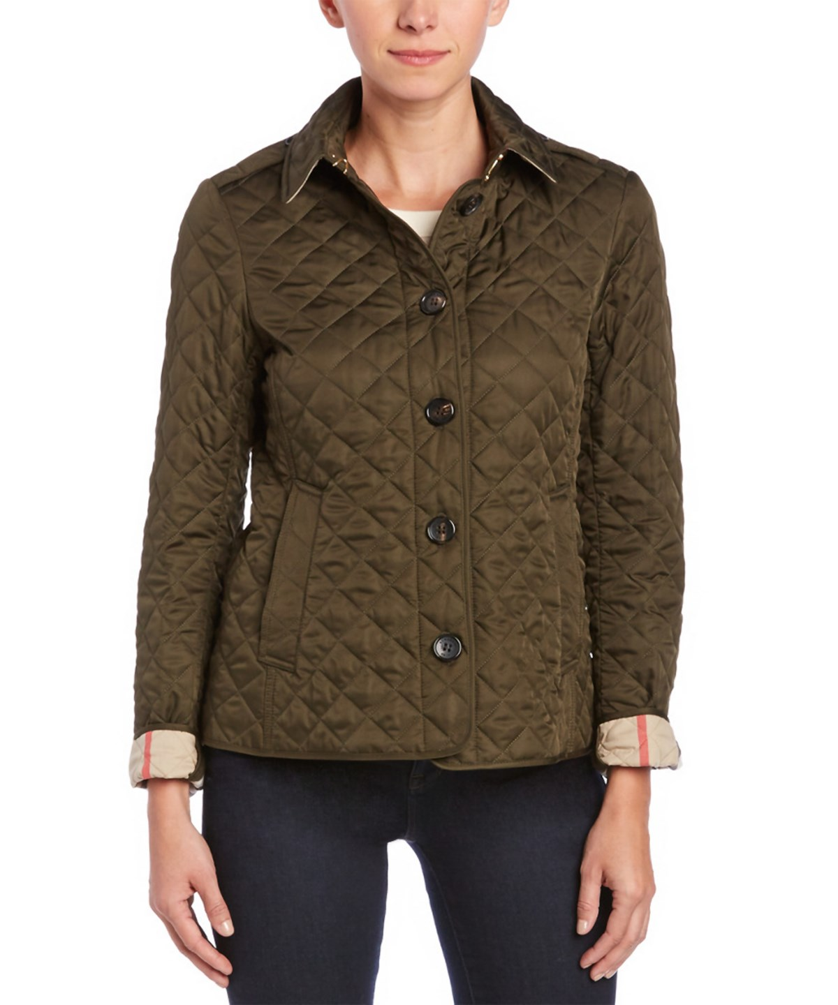 Burberry Cottons BURBERRY ASHURST DIAMOND QUILTED JACKET