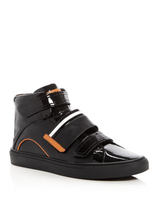 Bally Leathers MEN'S HERICK LEATHER HIGH TOP SNEAKERS