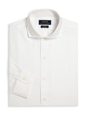 Polo Ralph Lauren Cottons Slim-Fit Solid Dress Shirt