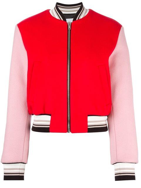 Msgm Bomber jackets embroidered back bomber jacket