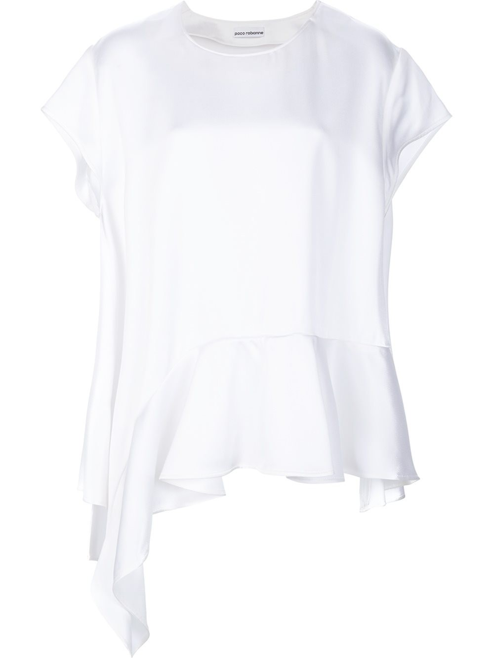 Paco Rabanne T-shirts ruffle hem T-shirt