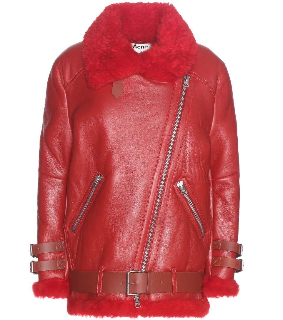 Acne Studios Leathers Velocite shearling-lined leather jacket