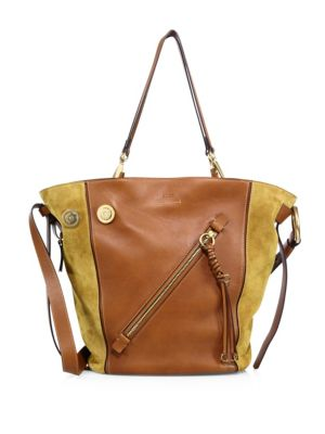 Chloé Leathers Medium Myer Leather & Suede Tote